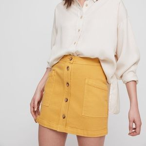 Wilfred free yellow button up skirt